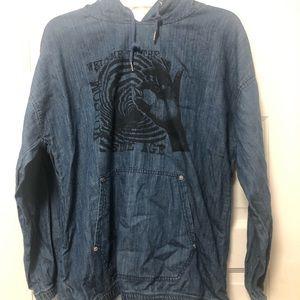 VOLCOM denim blue hoodie
